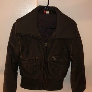 H&M fitted brown stylish jacket